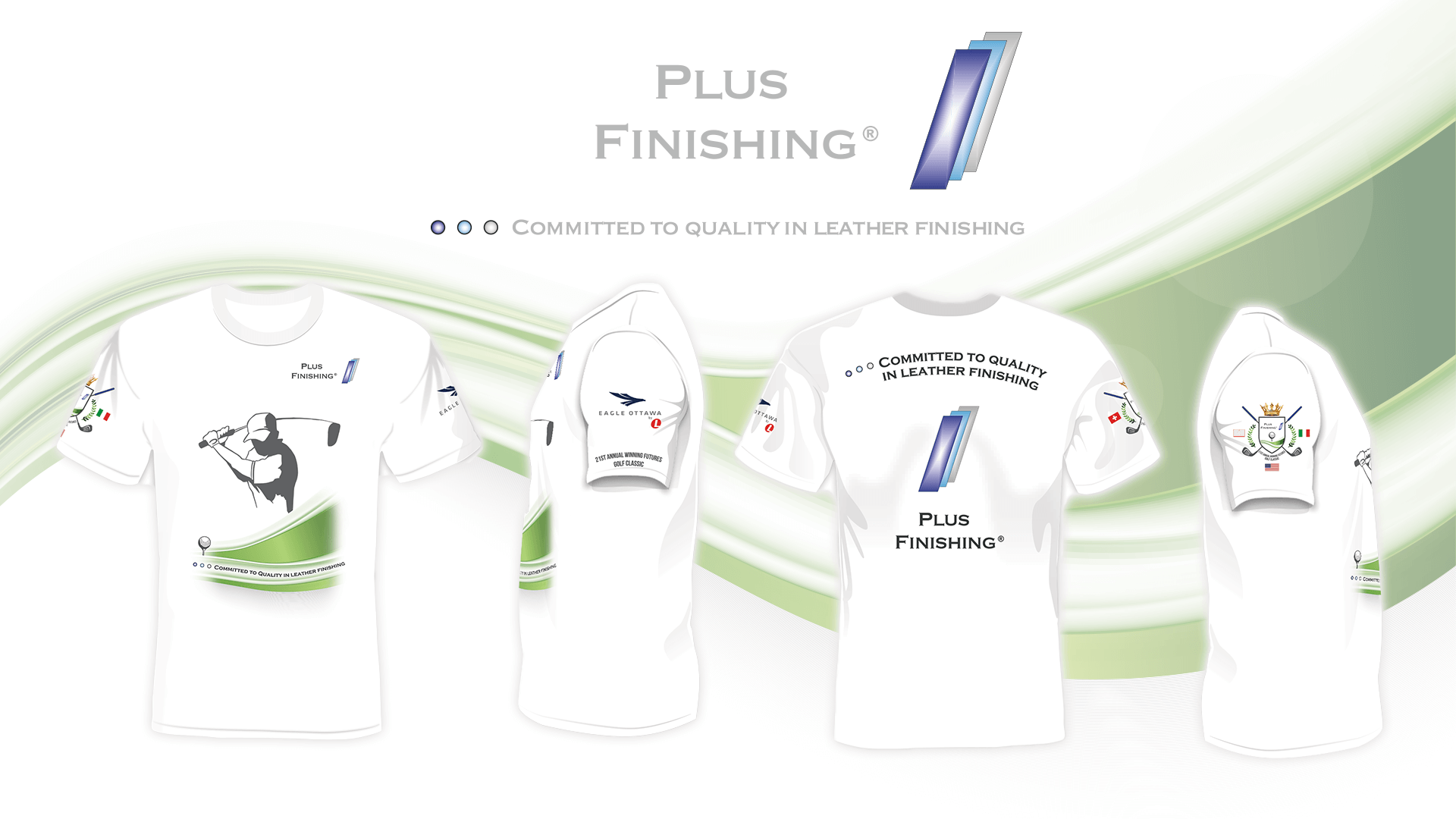 Personalisierte Golf-Event T-Shirts für Plus Finishing