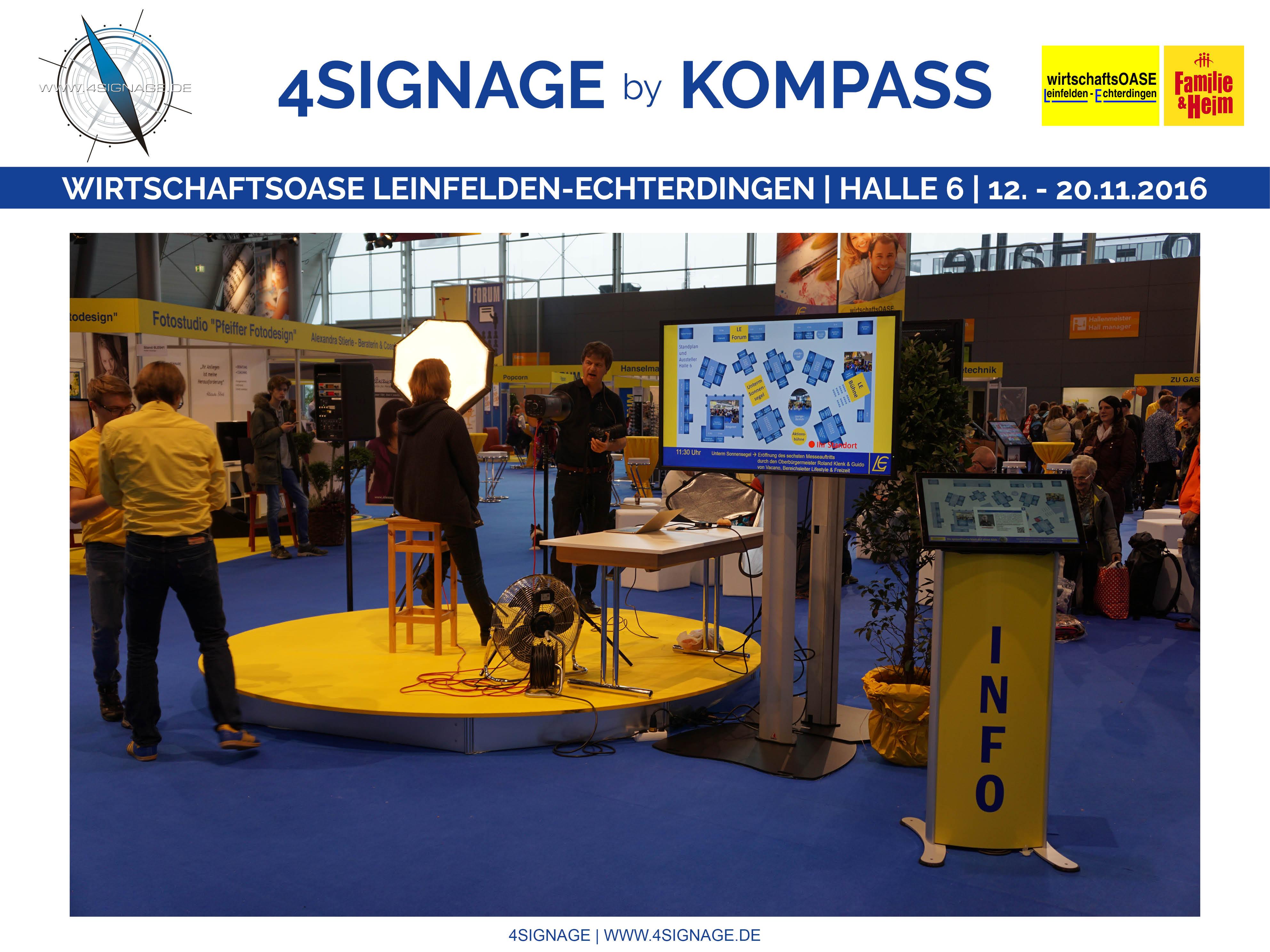Post Leinfelden Echterdingen touch systeme digital signage kompass signage