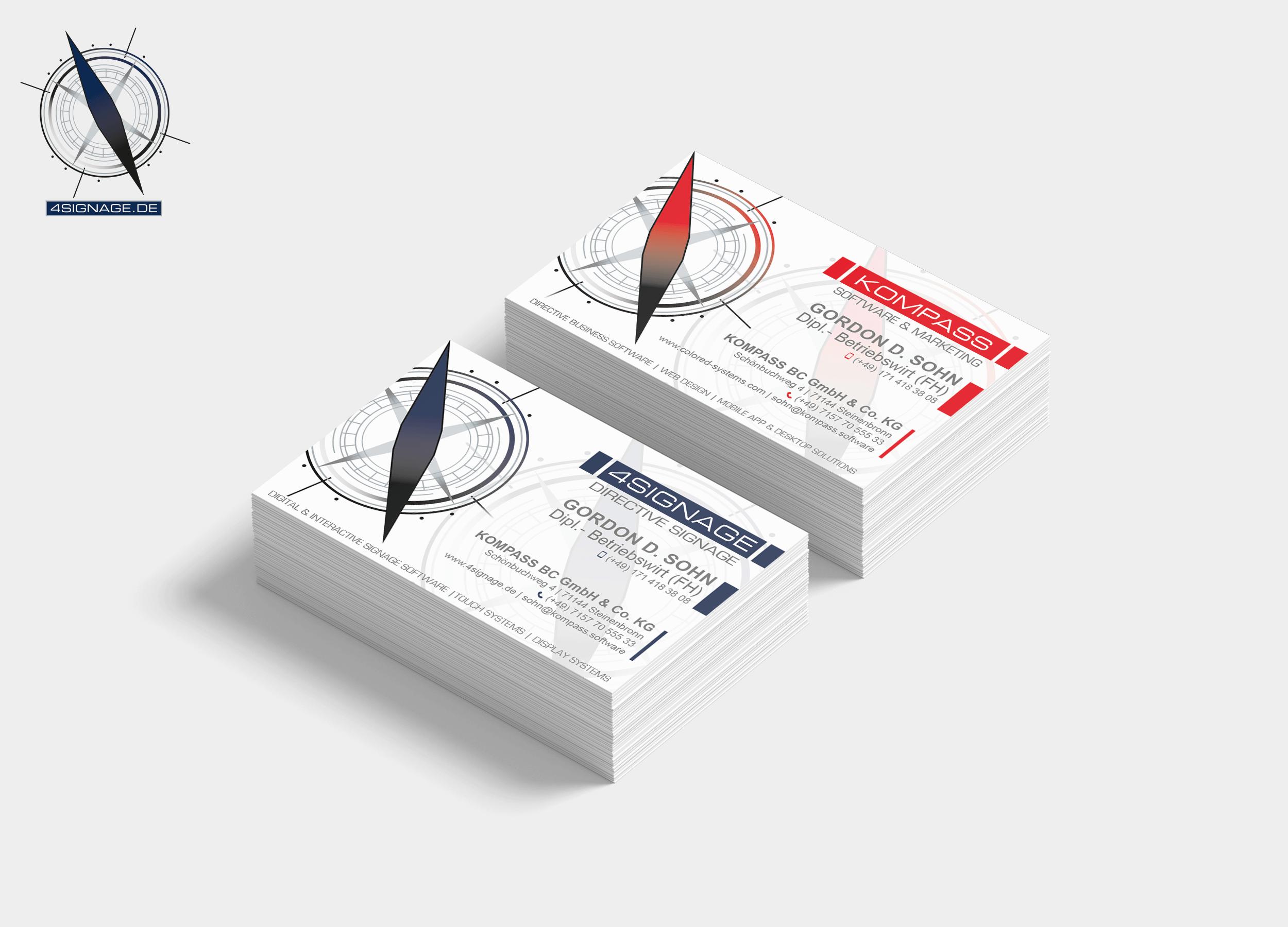 Personalisierte Visitenkarten für Ihr Unternehmen
